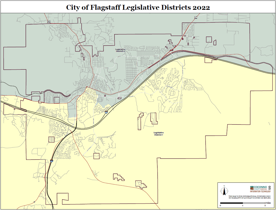 Map Of Arizona Voting Districts.Election Maps Coconino
