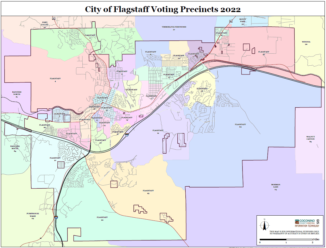 Map of Voting Precincts - City of Flagstaff