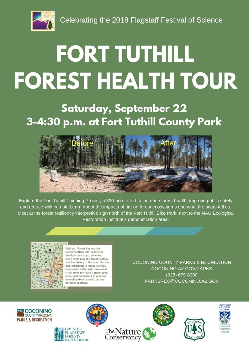 Fort Tuthill Forest Health Tour flyer