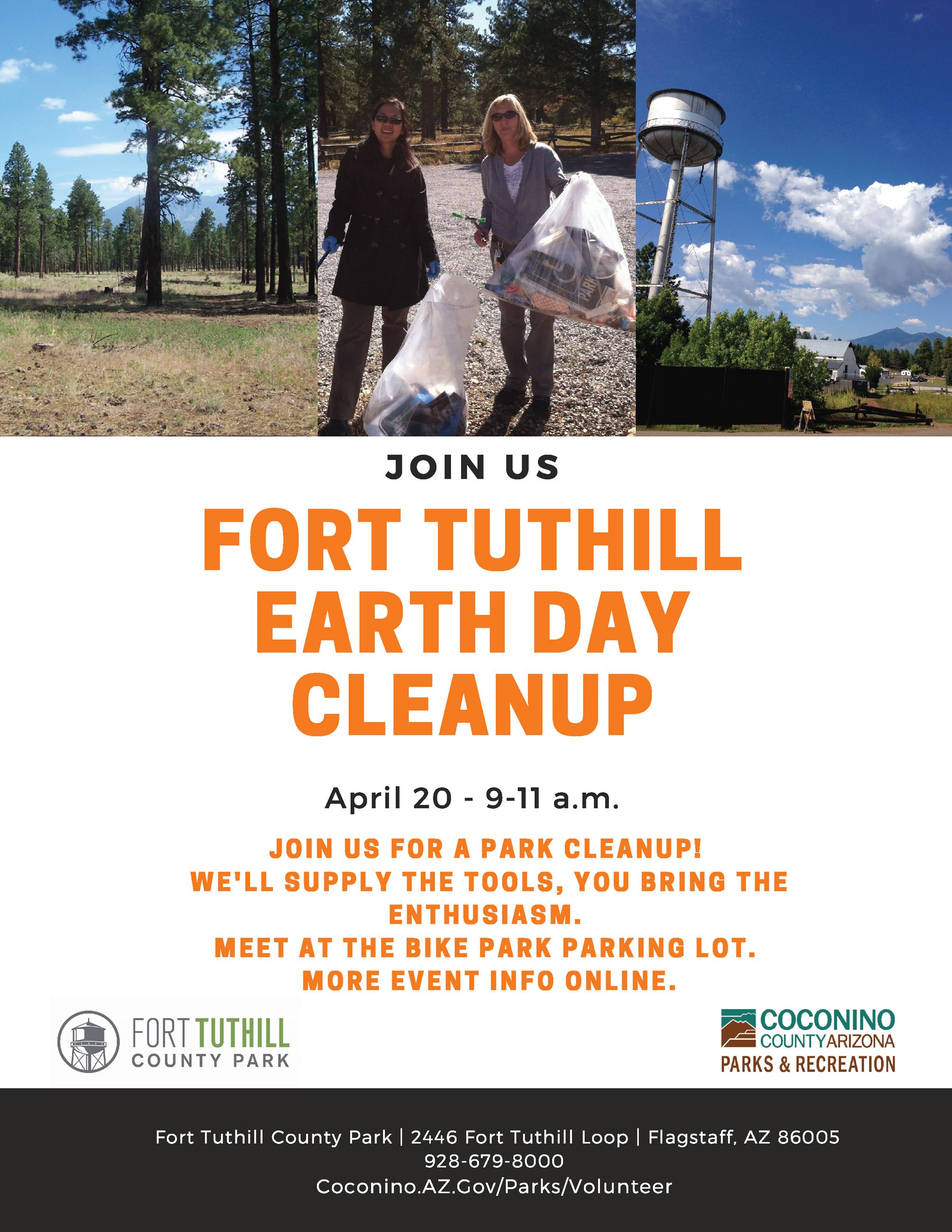 Fort Tuthill Earth Day Cleanup
