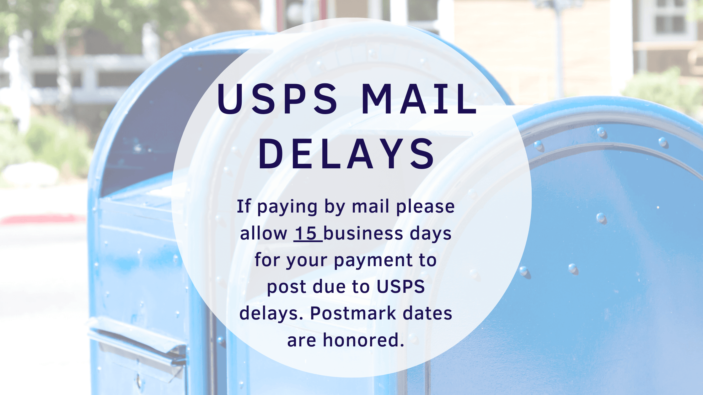 USPS Mail Delays