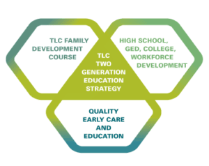 Tranformative Learning Center informative graphic on education strategy