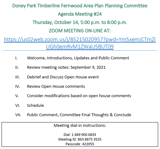 Doney Park Timberline Fernwood Area Plan Agenda for 9/10/20 Opens in new window