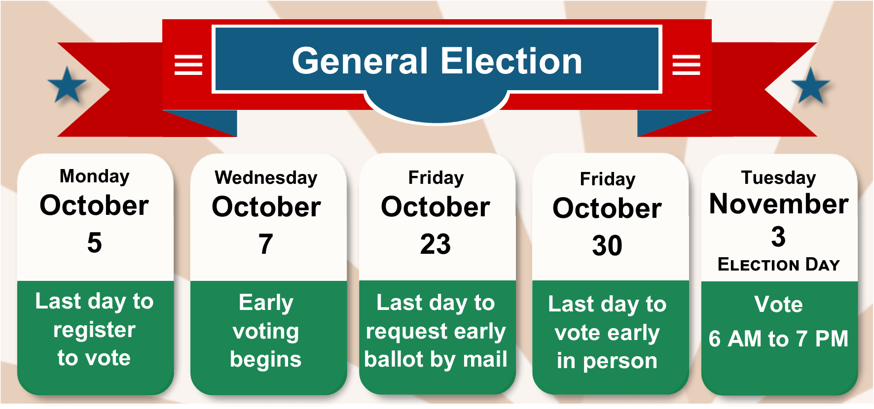 General Election Calendar Opens in new window