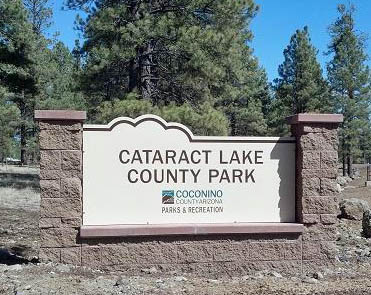 Cataract Lake County Park entrance